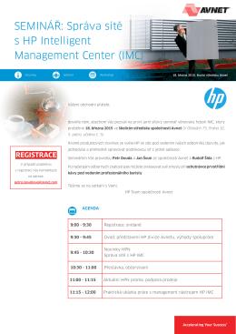SEMINÁŘ: Správa sítě s HP Intelligent Management Center (IMC)
