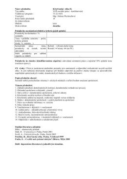 Tematické plány VOŠ 3D 2014/15