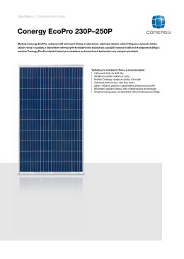 Conergy EcoPro 230P–250P