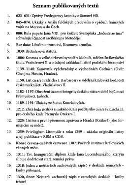 Dokumenty k dejinam ceskeho stredoveku a raneho novoveku II