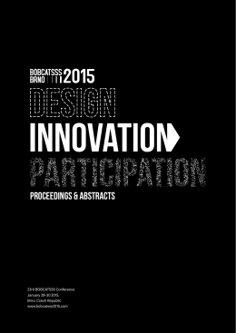 Design, Innovation, Participation: BOBCATSSS 2015