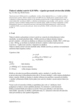 1104-výpočet křídla uzávěru,publikace - uzávěry