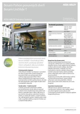 Besam UniSlideT Product Leaflet(, 290 kB)