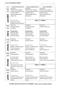střed a čtv rtek úterý pondělí - Integrované centrum sociálních služeb