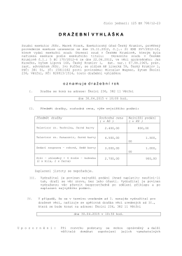 776960-790-12 dv mov - Exekutorský úřad Český Krumlov