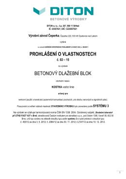 BETONOVÝ DLAŽEBNÍ BLOK KOSTKA vodící linie_Čeperka