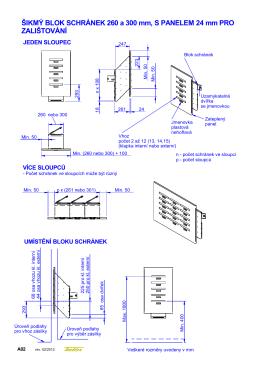 A02 Blok schranek sikmy v panelu.dft