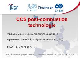 Příspěvek 4 - Czech-Norway Pilot CCS Study