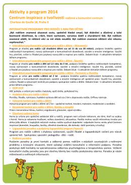 Aktivity a program 2014