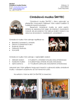 Cimbálová muzika ŠMYTEC