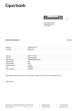 Detail karetní transakce L102111046650