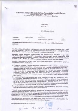 Page 1 Katastrální úřad pro Středočeshý kraj, Katastrá|ní pracoviště