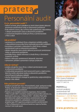 leták pro zaměstnavatele – personální audit