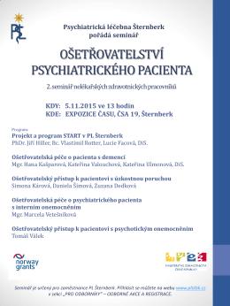 ošetřovatelství psychiatrického pacienta