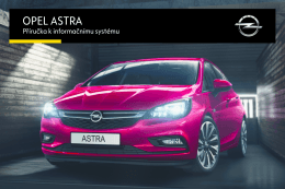 Opel Astra K Infotainment Návod (model year: 16.0)
