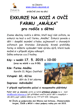 Exkurze na kozí farmu Amálka 17.5.2015