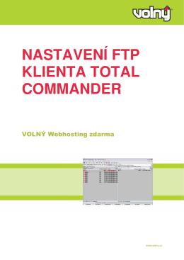 NASTAVENÍ FTP KLIENTA TOTAL COMMANDER