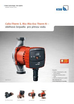 Calio-Therm S, Rio-/Rio-Eco Therm N – oběhová čerpadla pro