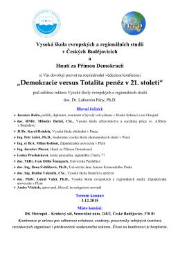 Pozvánka na konferenci 3.12.2015