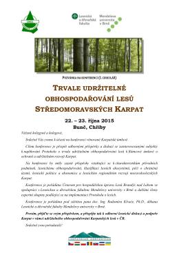 Pozvánka na konferenci a předběžný program
