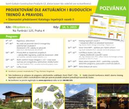 Pozvánka na pražskou konferenci