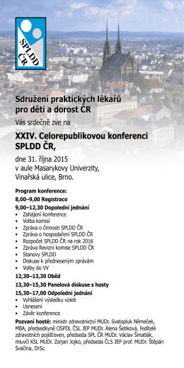 Sdružení praktických lékařů pro děti a dorost ČR XXIV