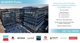 QUADRIO Praha 12/11/2015