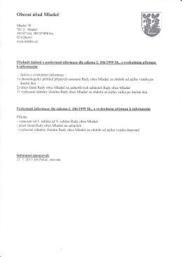 Žádost 3/2015 - Činnost rady