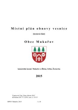 Místní plán obnovy vesnice 2015