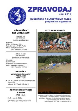 Září 2015 - Hvězdárna a planetárium Plzeň