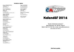Kalendá   2015 - ČAM | Český amatérský motosport