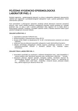 pojízdná hygienicko-epidemiologická laboratoř phel-2