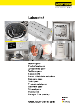 Katalog Laboratoř - Nabertherm Ltd., UK