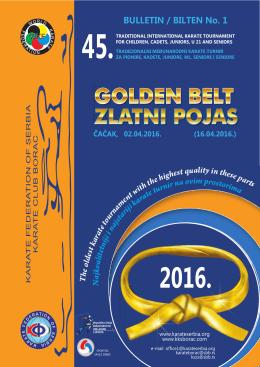 BULLETIN / BILTEN No. 1 2016.