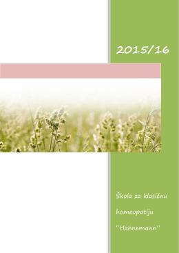 Informator za polaznike škole - Udruženje Homeopata Hahnemann