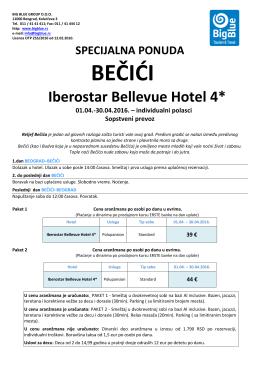 Bečići,hotel Iberostar Bellevue 2016. Big Blue