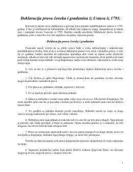 Deklaracija prava čoveka i građanina iz Ustava iz 1793.