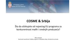 COSME & Srbija