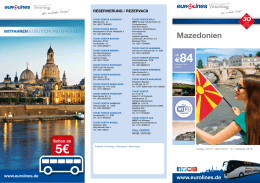 Busfahrplan Mazedonien - Eurolines|Touring|EUROPABUS