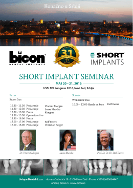Bicon Day 2016 kratki implantati