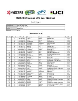 UCI S2 XCT Salcano MTB Cup