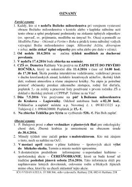 oznamy - Ražňany