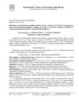 vzor listu adresa v ramceku - Pamiatkový úrad Slovenskej republiky