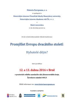 Program - Historický ústav akademie věd České republiky