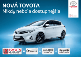 NOVÁ TOYOTA - Toyota Financial Services