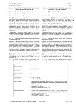 Verzia pre tlač ENR 5.3  - Aeronautical Information Services of