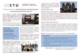 Bakalársky študijný program: Investičné plánovanie v priemyselnom