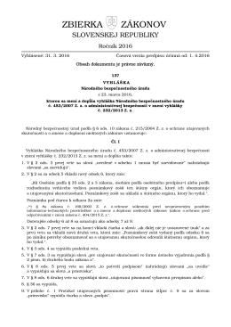 137/2016 - Zbierka zákonov