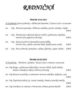 Denné menu 29.03.