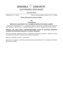 139/2016 - Zbierka zákonov
